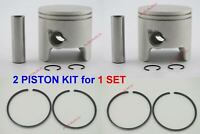 For YAMAHA Outboard (Piston Kit - 0.25 688-11635-03/6H1-11635-03 with Ring) X2