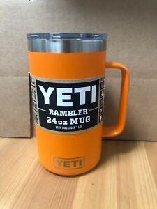 YETI Rambler 24oz Mug King Crab Orange W/ Magslider Lid - Free Shipping!