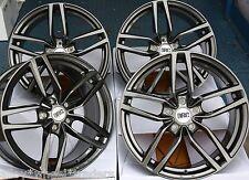 "18"" GM DRS CERCHI IN LEGA ADATTA 5x98 ALFA ROMEO 147 156 164 GT FIAT 500l DOBLO"