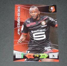 KEMBO-EKOKO STADE RENNES ROAZHON FOOTBALL FOOT ADRENALYN CARD PANINI 2010-2011
