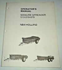 New Holland 513 519 679 Manure Spreader Operators Owners Manual Nh 1181 Oem