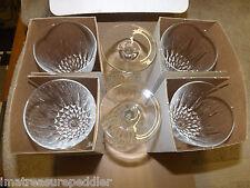 Luminarc JG Durand 6 DIAMANT Crystal WINE GLASS Goblets Cristal D'Arques