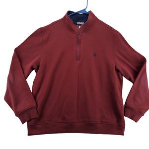 IZOD Sweater Men's Maroon Long Sleeve Sweatshirt Size XXL 1/4 Zip - N18