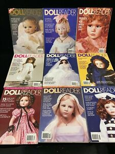 DOLL READER MAGAZINES, LOT OF 9, 1995 COMPLETE YEAR.