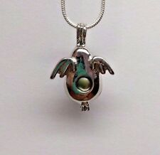 Make a Wish Pearl Cage Pendant Necklace - Dragon Egg - 925 Chain+Pearl Included