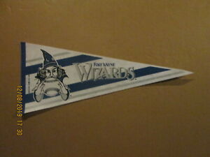MWL Fort Wayne Wizards Vintage Defunct Circa 1993 Team Logo Baseball Pennant