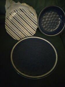 Better Home & Gardens Navy Linen 12PC Dinnerware Set