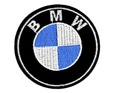 """BMW PATCH, EMBROIDERED BMW PATCH, LARGE 3"""" DIAMETER, BMW APPLIQUE"""