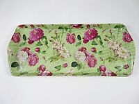 Royal Danube Porcelain Chintz Vanity Or Serving Tray Green With Rose Pattern