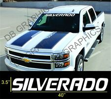 Chevrolet SILVERADO Windshield Graphic Vinyl Decal Sticker Vehicle Logo WHITE