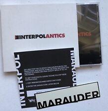 INTERPOL - ANTICS CD ALBUM + MARAUDER MP3 DOWNLOAD CODE + PROMO STICKER