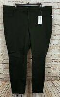 Old Navy Rockstar super skinny pants womens 26W High rise new olive green Z1