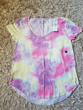 New Women's HOLLISTER Must-Have Easy T-Shirt Size XS multi tie-dye