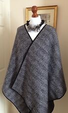 Authentic Ralph Lauren Houndstooth Check Vavia Poncho Cape Fr38 Uk10