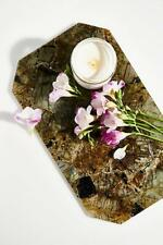NEW Stoned Crystals Tray Table Display Candles Jewelry Vanity Cheese Labradorite