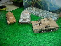 NICHIMO,BANDAI ,( NON 1/30) SCALE  GERMAN  ARMOR/ LOT DEAL BUILT LOOK@