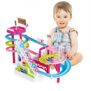NEW Kids Happy Pig Amusement Rechargeable Electric Climb Stairs Track Music Toys