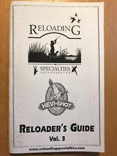 Reloading Specialties RSI Reloader's Guide, Hevi-Shot, #3, Shot Load Recipes