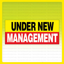 Under New Management Vinyl Banner Sign New 2x4 ft - yrb