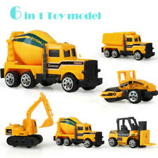 6 types mini Alloy car construction vehicle Engineering Car Dump-car Truck