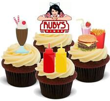 NOVELTY AMERICAN DINER MIX STAND UP Edible Cake Toppers Birthday America States