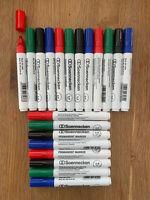 5 x 4 = 20 Permanentmarker schwarz blau grün rot Keilspitze Stifte ähnl. Edding