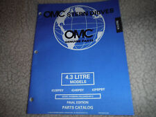 1998 OMC VOLVO STERN DRIVE PARTS MANUAL 3.0 LITRE MODELS