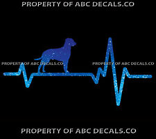 Heart Beat Line Dog Curly Coated Retriever Puppy Adoption Rescue Car Metal Decal