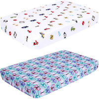 Ultra Soft Baby Crib Fitted Sheet, Printed Toddler Sheets for Boys, Girls