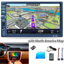 "New 7"" 2DIN Car Bluetooth In-dash Kit Player AM/FM Stereo MP5 GPS Navigation Map"