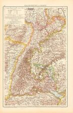 1893 ANTIQUE MAP - GERMANY-GRAND DUCHY OF BADEN