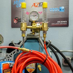 Flametech® Dual Argon Flowmeter & JWS Pro Series™ Purge Hose Kit