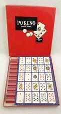 VINTAGE PO-KE-NO (Poker-Keno) ~ 1960s-Era COMPLETE SET~U.S. Playing Card Company