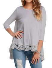 Fashion Summer Women Long Sleeve Shirt Casual Blouse Loose Cotton Tops T Shirt