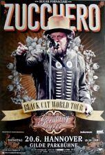 ZUCCHERO - 2017 - Konzertplakat - Black Cat - Tourposter - Hannover - A