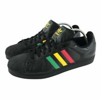 2006 Adidas Mens Superstar I Rasta OG Sneakers Black Low Top Size 15 RARE