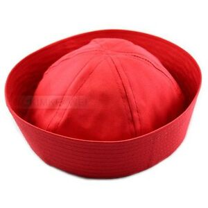 Flight Attendant Air Hostess Hat Sailors Hat Navy Sailor Hat Red Brand New