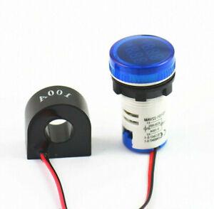LED Roundnes Digital Voltmeter Ammeter Lights Voltage Current AC 60-500V 0-100A