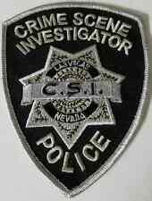 Las Vegas Nevada CSI  Crime Scene Investigator Cloth Patch