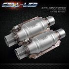 "2pcs Universal Three-way High-Flow EPA Catalytic Converter Standard 2.25"" Cat"
