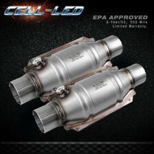 "2pcs Universal Three-way High-Flow EPA Catalytic Converter Standard 2.25"" Cat"