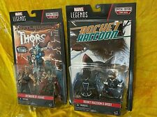 Marvel Legends Groot,Rocket,Thor,Odinson , 2 Pack Figures each + Comic Books New