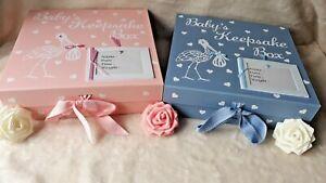LARGE Personalised Baby Girl  / Boy Keepsake Box