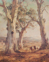 "Hans Heysen - Painting Canvas Prints  - ""The Three Gum""  Framed & Ready to Hang"