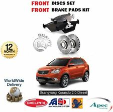 FOR SSANGYONG KORANDO 2.0 EXDI 2010-> NEW FRONT BRAKE DISC SET & DISC PADS KIT