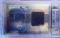 2002-03 UD Hardcourt Kevin Garnett Game Floor Film Patch BGS 9 w/ 9.5
