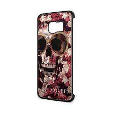Alexander McQueen Phone Case, Fits Samsung - Glass Skull Flowers