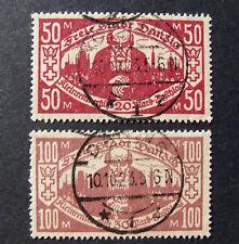 """GERMANIA,Germany REICH Danzig 1923 """" A favore dei piccoli pensionati""""2 V cpl US"""