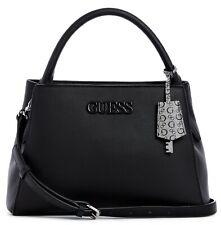 NWT GUESS BRUNA HANDBAG Large Black Logo Satchel Crossbody Shoulder Bag GENUINE