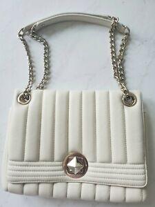$400 Kate spade ivory white padded quilted Bag Crossbody Purse Handbag